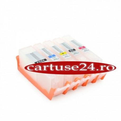 Cartuse reincarcabile dotate cu chip-uri autoresetabile pentru Canon PGI-550 CLI-551